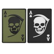 3-D Rubber Patch Death Ace, Farbe oliv