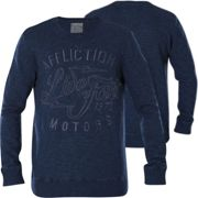 Affliction Pullover Moon Stone Blau M