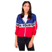 Alpha Industries Damen Windbreaker Color Block Wmn speed red L