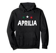 Aprilia Italy with stars in green white and red Pullover Hoodie