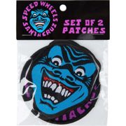 Aufnäher SANTA CRUZ - Speed Wheels Shark Patch 2 Pk Blue/Purple (BLUE-PURPLE) Größe: OS