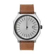 Automatically slow 02 - Brown Leather, Silver/Black Case, Silver Dial