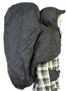 Bach Hooded Raincover black - Größe L