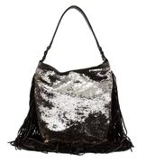 CATERINA LUCCHI Garment Dyed Hobo Bag Brown