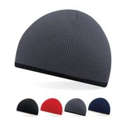 CB44C Beechfield Two-Tone Pull-On Beanie Graphite Grey One Size
