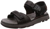 Clarks Herren Un Trek Part Slingback Sandalen, Schwarz (Black Leather), 43 EU