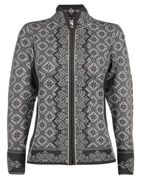 Dale of Norway Christiania Feminine Jacket für Damen - Grau Norweger Strickjacke aus Merinowolle - XS