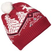 Dale of Norway Dale Christmas Kids' Hat Raspberry/White/Navy OneSize