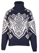 Dale of Norway Falun Women's Sweater für Damen - Navy Norweger Pullover aus Alpakawolle - L