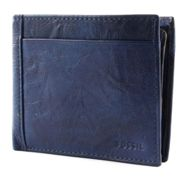 FOSSIL Neel Large Coin Pocket Bifold Navy