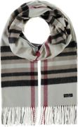 FRAAS Cashmink® Scarf with FRAAS Plaid Off White