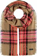 FRAAS Cashmink® stole with FRAAS pattern Camel