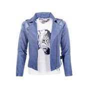 HKM Kinder Bikerjacke Bibi and Tina Denim, jeansblau, 164, 96856100.0488