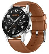 HUAWEI Watch GT 2 Smartwatch (46mm, OLED Touch-Display, Fitness Uhr mit Herzfrequenz-Messung, Musik Wiedergabe & Bluetooth Telefonie, 5ATM wasserdicht) pebble brown