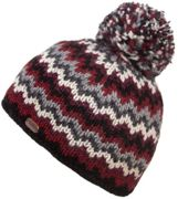 KuSan Bobble Hat ZigZag black charcoal - Größe One size