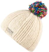 KuSan Thick Yarn Multi Bobble Hat white - Größe One size