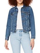 Levi's Damen Original Trucker Jeansjacke, Blau (Soft As Butter Dark 0063), X-Large (Herstellergröße: XL)