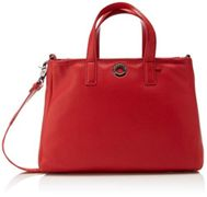 MANDARINA DUCK Mellow Leather Tote Flame Scarlet