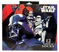 Men's Star Wars 12 Days of Socks Darth Vader and Stormtroopers for Shoe Size 6-12