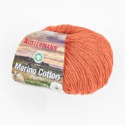 Merino Cotton organic von Austermann®, Orange, aus Schurwolle