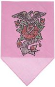 Mirage Pet Products Adler Rose Strass Bandana, Large, Light Pink