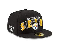 New Era NFL Pittsburgh Steelers Authentic 2019 Sideline 59FIFTY Home Cap, Größe :7 1/4