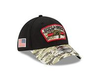 New Era Tampa Bay Buccaneers NFL On Field 2021 Salute to Service Black 39Thirty Stretch Cap - L-XL (7 1/8-7 5/8)