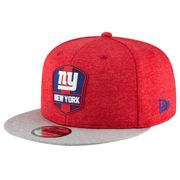 New York Giants New Era 9FIFTY 2018 NFL Official Sideline Road Mütze S/M