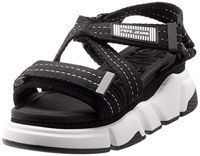 Pepe Jeans London Damen FALMER Cross Plateausandalen, Schwarz (Black 999), 40 EU