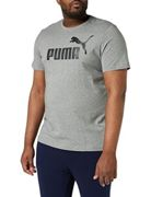 Puma Herren ESS Logo Tee T-Shirt, Grau (Medium Gray Heather), Gr. L