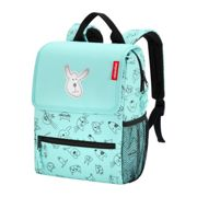 reisenthel Rucksack Kinder 5 Liter backpack cats and dogs -Mint Polyester mit Reflektor 21x28x12 cm - | Mint Grün