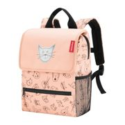 reisenthel Rucksack Kinder 5 Liter backpack cats and dogs -Rosa Polyester mit Reflektor 21x28x12 cm - | Rose Rot