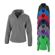RT220F Result Core Ladies Fashion Fit Outdoor Fleece Jacket Pure Grey L