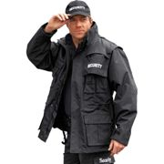 Security Jacke waterproof 6 in 1, schwarz | L