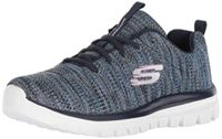 Skechers 12614 NVBL Graceful - Twisted Fortune Damen Sneaker Mesh Memory-Foam, Groesse 37, blau