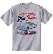 TEESANDENGINES Herren Cadillac Convertible 49 Real Power Grey T-Shirt Gr. XL, grau