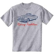 Teesandengines Men's Cadillac Convertible 49 Racing Tradition Grey T-Shirt Size XXLarge