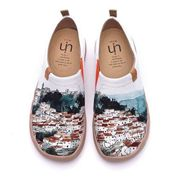 UIN Damen A Red Vival City Slip On Sommer Frühling Leinwand Travel Fashion Sneaker Art Painted Schuhe 38