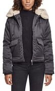Urban Classics Damen Ladies Sherpa Hooded Jacket Jacke, Mehrfarbig (Blk/Darksand 01483), X-Large