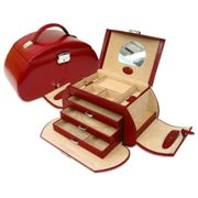 WINDROSE Merino Jewelry Box Round 2 Red