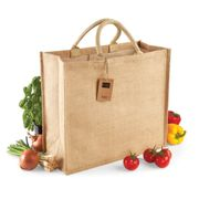 WM408 Westford Mill Jute Jumbo Shopper Natural 45 x 39 x 21 cm