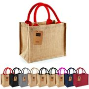 WM412 Westford Mill Jute Mini Gift Bag Natural 26 x 22 x 14 cm