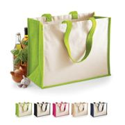 WM422 Westford Mill Printers Jute Classic Shopper Apple Green 42 x 33 x 19 cm