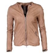 WOMEN'S GIORGIO BRATO LEDERJACKE HAZELNUT IT/48 - DE/42