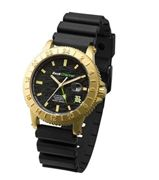 ZERONE Crossover Back Channel 24-7 G.L CAMO IP Gold Analogue Watch